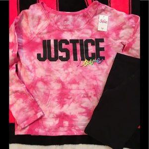 Justice Top w leggings